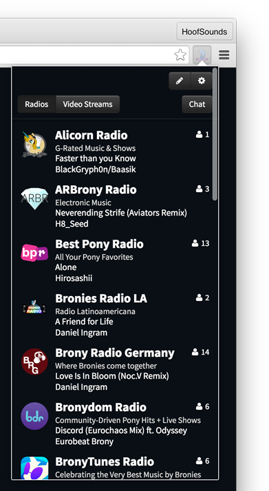 HoofSounds - Listen to pony radio stations 24/7!